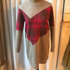 Thakoon Addition sweater dress, sz s, gray / pink